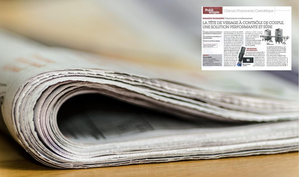 journal avec une extrait d'article