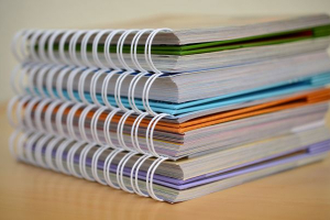 pille de très gros cahiers